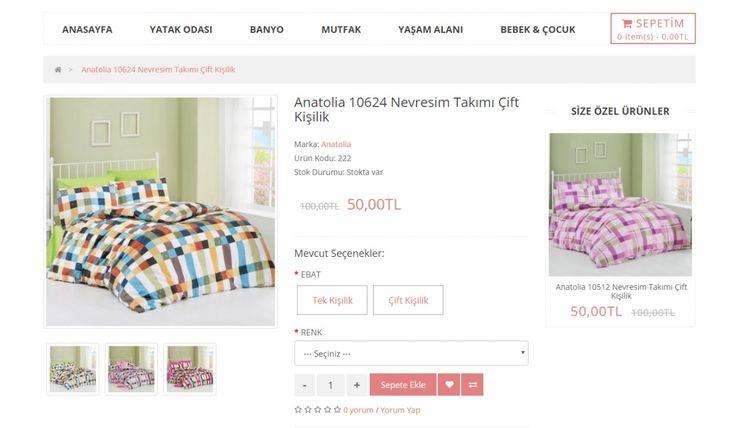 Evimfit Tekstil E-Ticaret Sitesi - Silüet Tanıtım Alışveriş Sitesi - Ürün Detay Sayfası