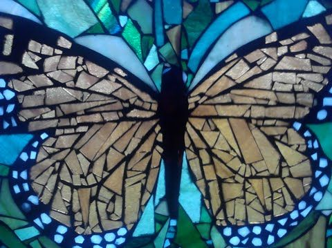 204 best mosaic butterflies images on pinterest for Butterfly stained glass craft