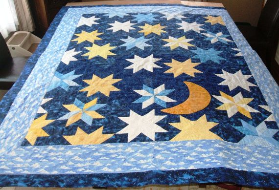 Custom Made / Made to Order Night Sky Quilt by JoaniesCustomQuilts, $950.00
