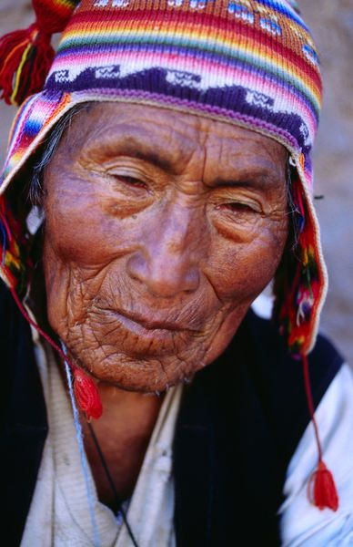 Weathered face, Colombia