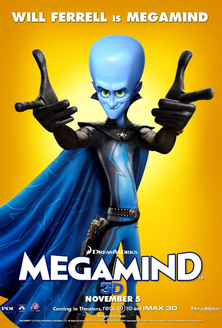 will ferrell movie posters | megamind_movie_poster_will_ferrell_01