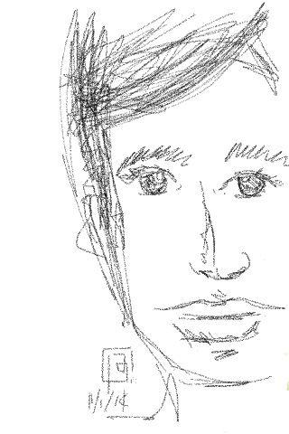 My first iPhone sketch. :) #brunoost