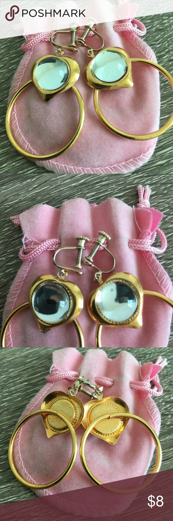 Screw in Clip Earrings 🌷Please Read the description! Thanks!🌷  Had these for a very long time. They were a gift, but I have never needed or wore them. Mirrored finish. Came with the pink jewelry bag.   Color may be slightly different bcz of lighting  ✅REASONABLE offers through offer buttons only ❌LOWBALL offers (plz consider the 20% commission) ❌TRADE Thank u for visiting my closet!  Happy shopping!💖 Jewelry Earrings
