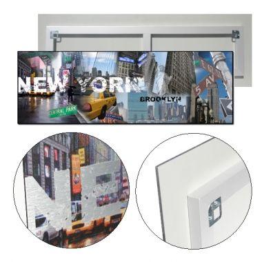 #CUADRO #NEWYORK #BROOKLYN  #Lámina fotográfica de medida 30x90, impresa sobre panel de aluminio de 5mm que genera un efecto flotante sobre la pared.  Cuadro original, decorativo y muy duradero.  #Decorar tu hogar u oficina nunca ha sido tan fácil como ahora con nuestra tienda on-line.  57,20 €