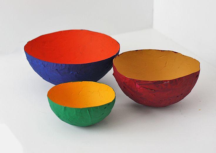 35 best paper sculpture images on pinterest paper mache for Diy paper bowl