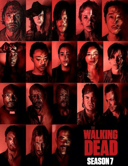 The Walking Dead Season 7 Portraits