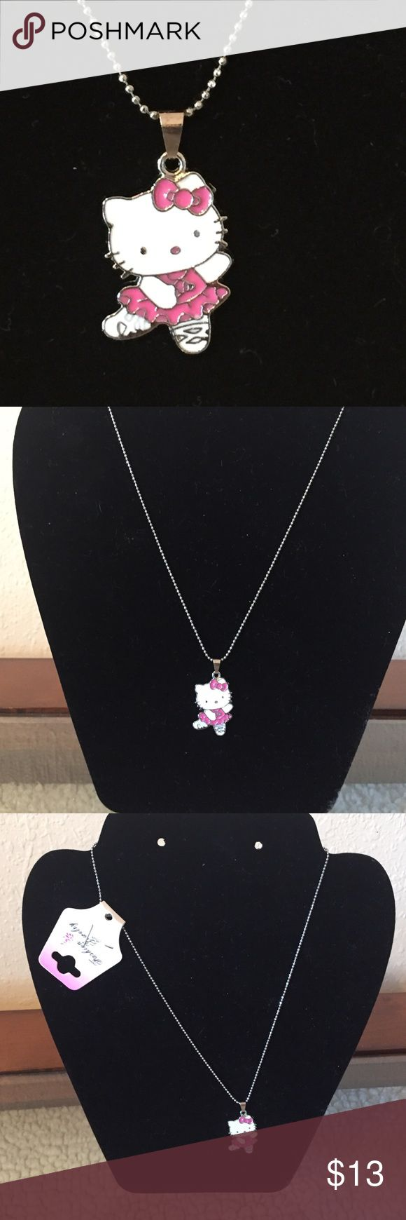 """Hello Kitty necklace New in package. Chain 8"""" silver Accessories Jewelry"""
