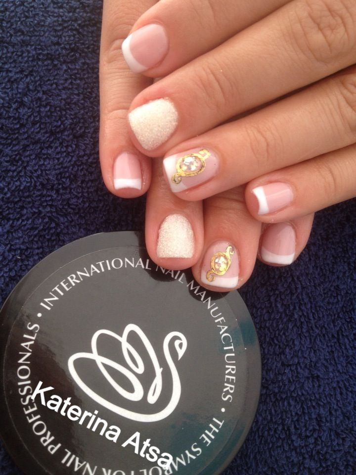 Gelavish *hushed* & *innocence*  Glitter   Liquid Stone   @INM Nails  @NAILS Magazine  #nails #liquidstone #french