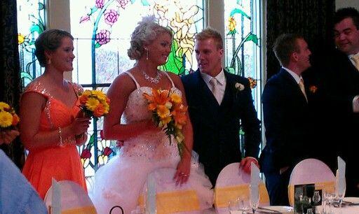 The bride n groom
