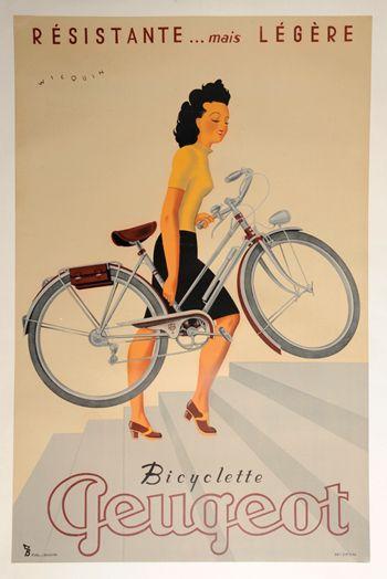 Vintage poster Bicyclette Peugeot