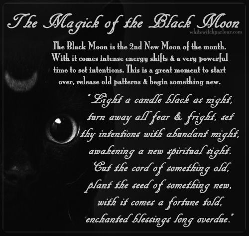 black moon, new moon, celestial, mystic, goddess, witch, magick, spells, book of shadows, enchanted, black cat, white witch, metaphysical. www.whitewitchparlour.com