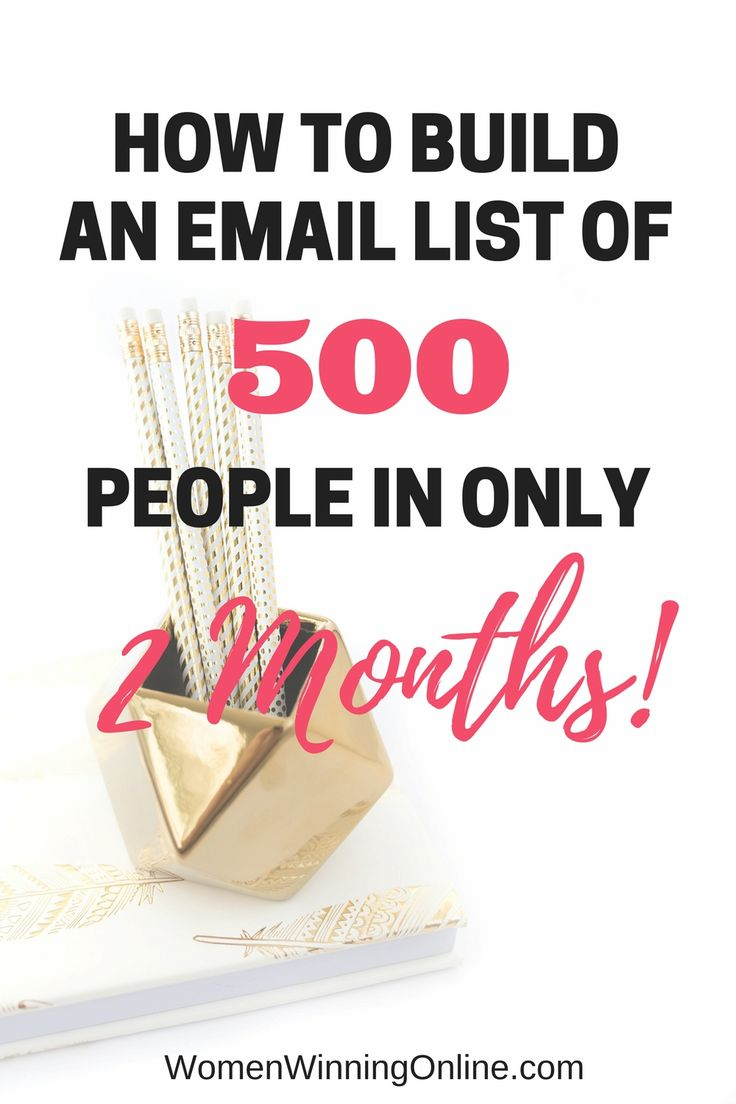 Need to grow your email list? Check out my tips on how I grew my list from 0-500 in only 2 months!