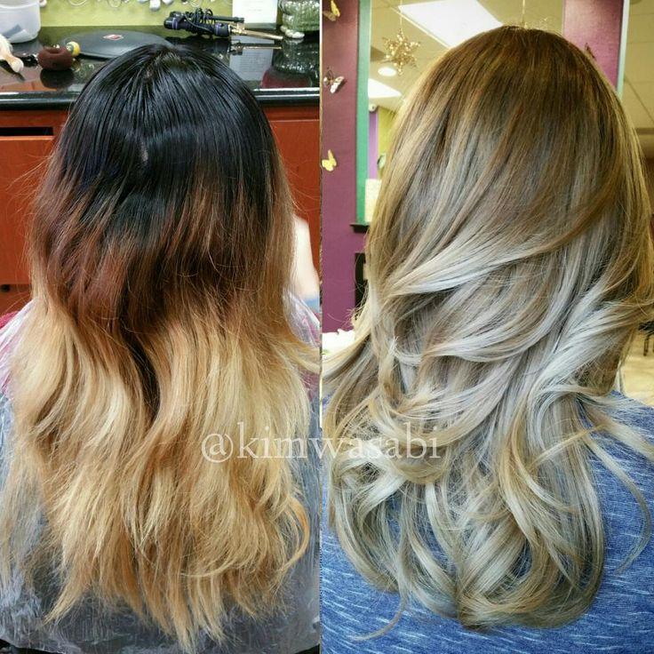 COLOR CORRECTION: A Mess to GORGEOUS Blonde Ash Sombre   Modern Salon
