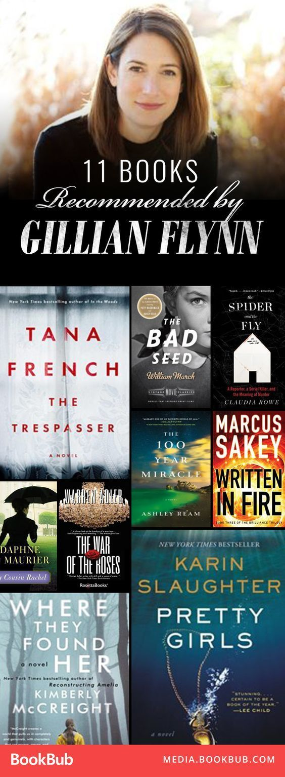 11 books recommended by Gillian Flynn. If you love Gone Girl or other suspenseful thrillers, this list is sure to give you great new ideas.