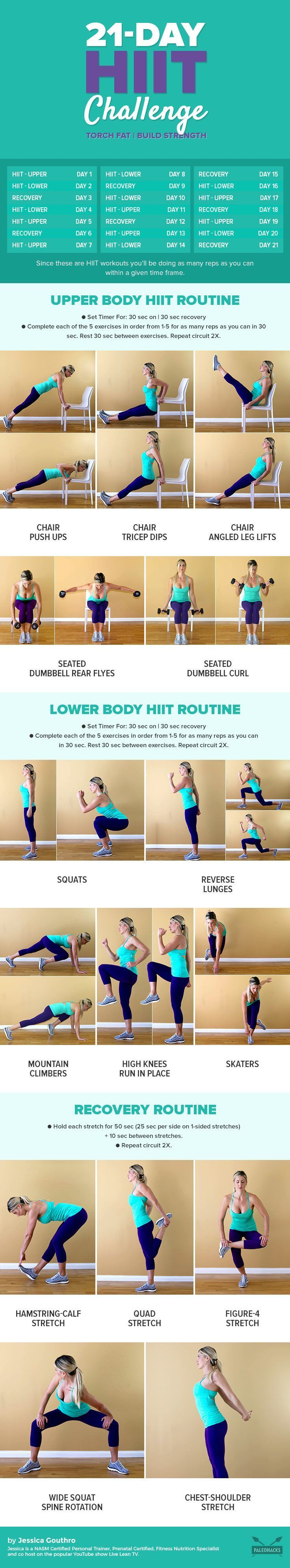 The saying goes that it takes 21 days to build a habit. So kick start your year with this 21-day HIIT challenge to get your heart pumping and torch fat! Get the workout here: http://paleo.co/21dayHIIT
