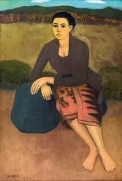 Sudarso - Wanita duduk