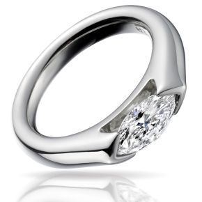 Paul Spurgeon marquise diamond ring - Wave contemporary Jewellery