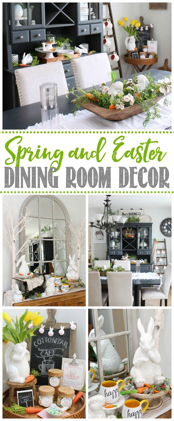 spring dining room decor easter decor room decor diy home decor rh pinterest com