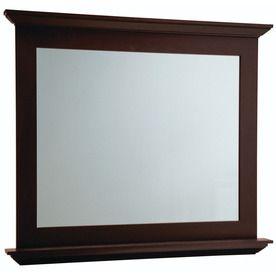 Diamond Palencia 34 In H X 42 In W Espresso Rectangular Bathroom Mirror Bathroom Wish List