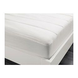 IKEA - PÄRLMALVA, Matratzenschoner, 160x200 cm, , Matratzen halten länger, wenn man sie mit einem Matratzenschutz bzw. -schoner vor Verschmutzung und Flecken schützt.Spannbettlaken mit eingearbeitetem Gummiband, passend für Matratzen bis zu 36 cm Stärke.Eine gute Wahl für Stauballergiker, da waschbar bei 60°, einer Temperatur, die Milben abtötet.