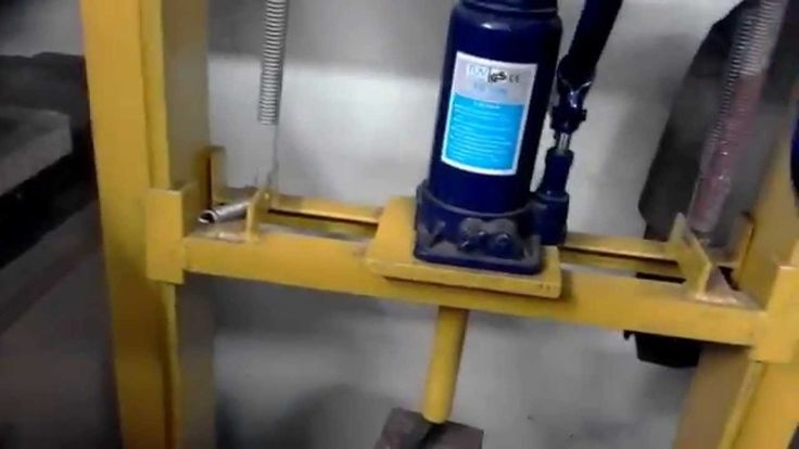prasa hydrauliczna 10 ton samoróbka- homemade hydraulic press 10 tons