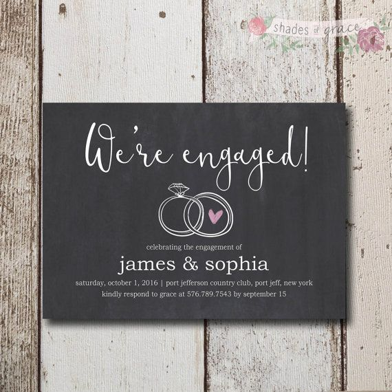 Rustic Engagement Invites Instant Download by ShadesOfGrace1