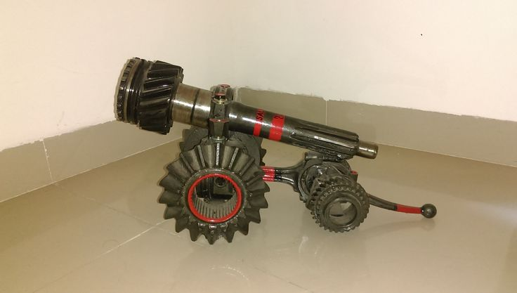 Cannon made from Car parts