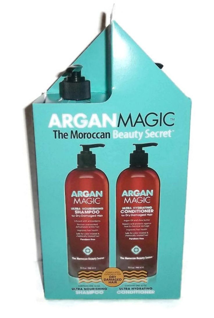 Argan Magic the Moroccan Beauty Secret (Contains 1 Shampoo 32. Oz and 1 Conditioner 32 Oz.) -- You can get more details by clicking on the image.