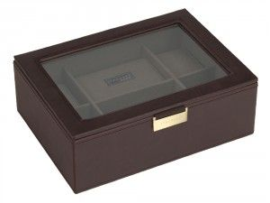 Engraved and personalised watch display box Stackers brown & khaki available online at We Get Personal UK. This is an elegant watch box which can be engraved. It can store 8 watches. #personalisedwatchbox #engravedwatchbox #StackersBrownandKhakiDisplayBox