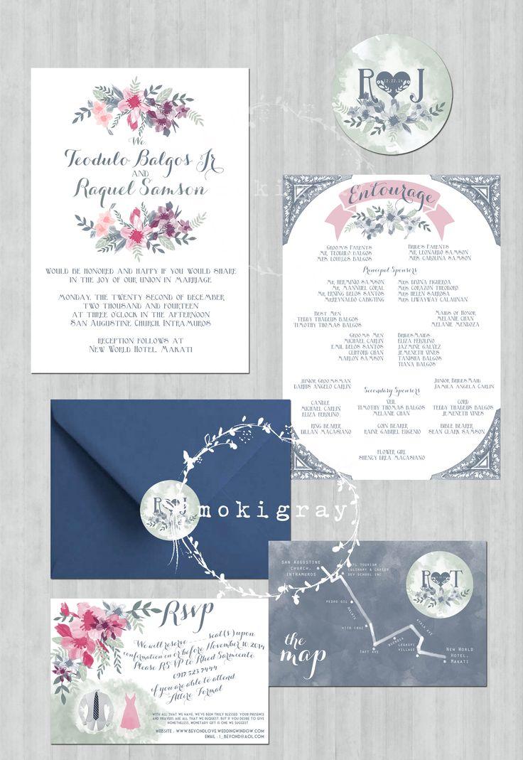25 best Moki Gray\'s Wedding Invitation Suites images on Pinterest ...