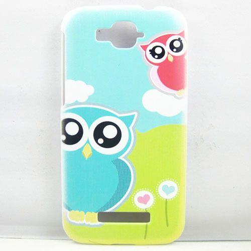 Cute Cartoon Owl Love Heart HARD CASE Cover FOR Alcatel One Touch Pop C7