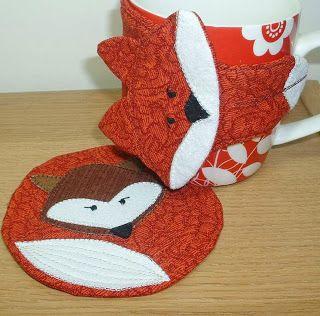 Fox mug hug (FREE pattern by Crafty Staci) to go with my Fox coaster for the…