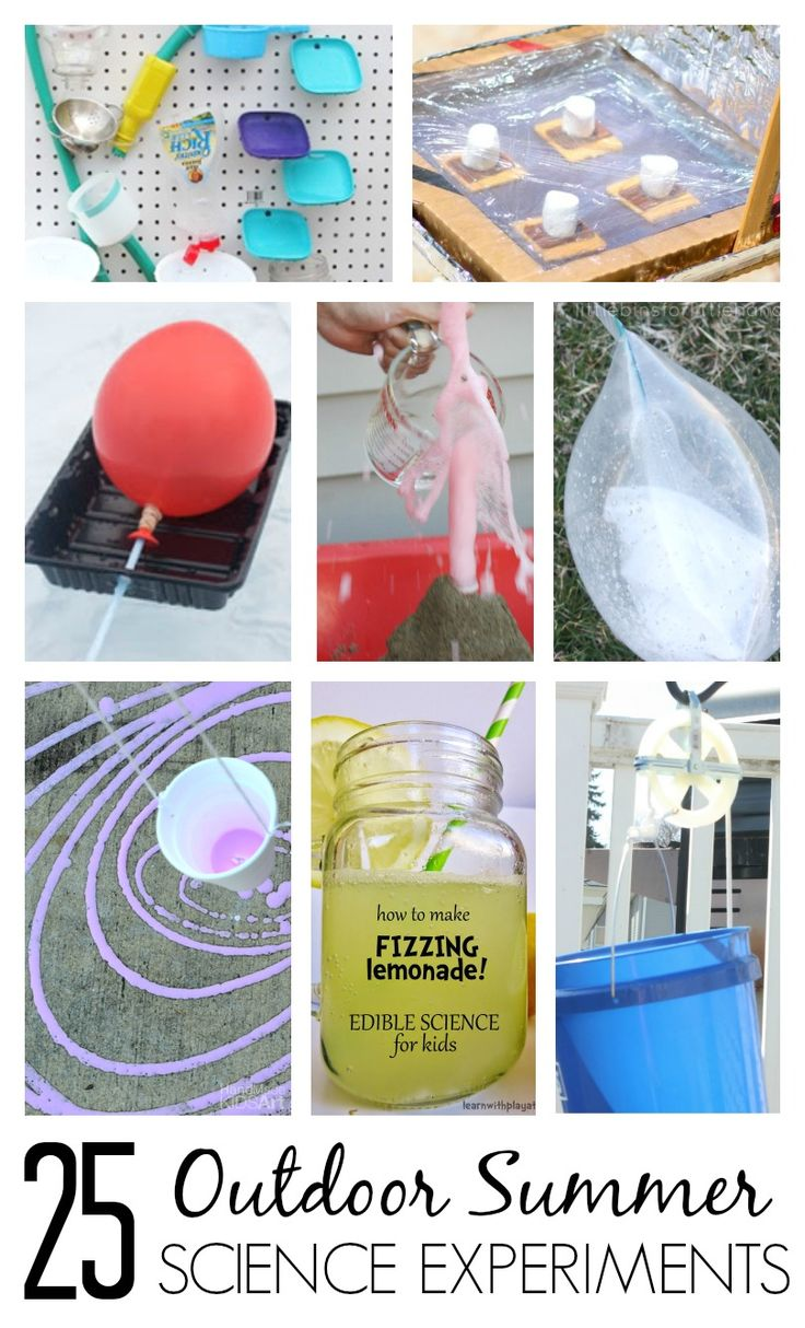 Cool science for Summer! Simple science experiments to enjoy outdoors this Summer. STEAM, STEM, and classic science for preschool, kindergarten, and grade school kids. Great for summer camps and summer vacation activities.