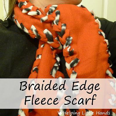 Tutorial: No-Sew Braided Edge Double Layer Fleece Scarf