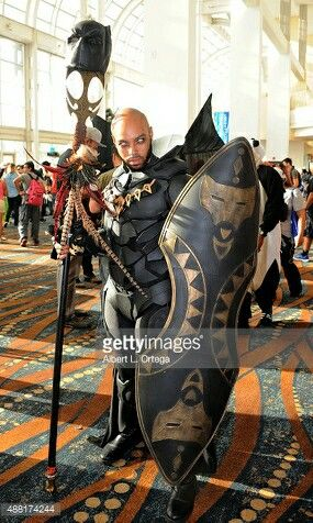 Black Panther unmasked, at Long Beach Comic Con 2015