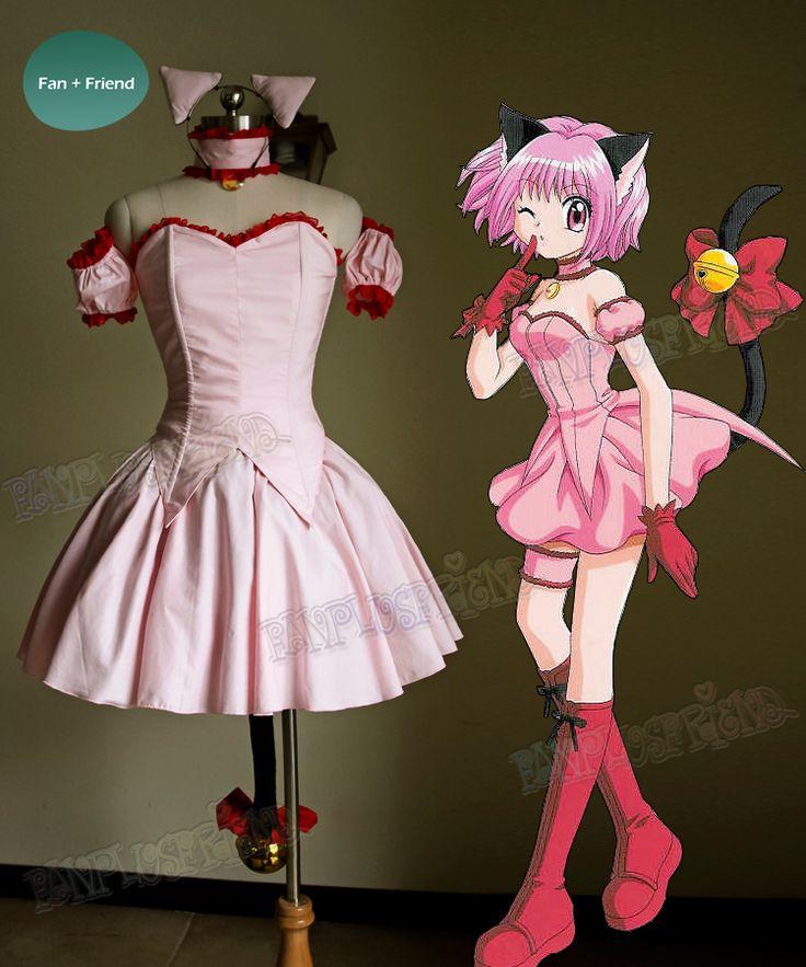 Tokyo Mew Mew Cosplay Mew Ichigo Momomiya Costume Outfit Costume