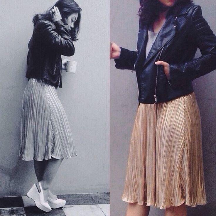 Our designer Prita Widyaputri spotted in our Rahajeng pleat skirt. Now available at shopnefertiti.com.