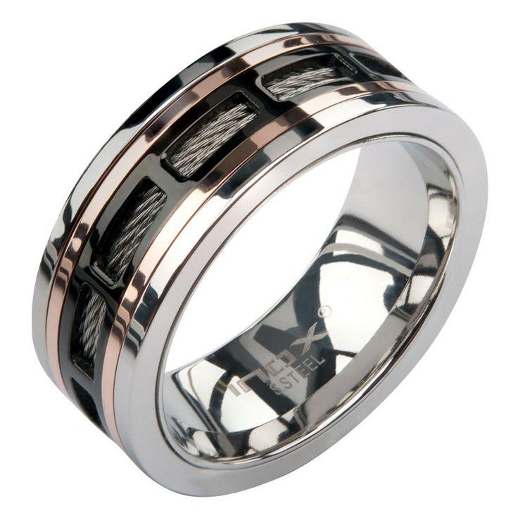 IP Black Spinner Window Steel Ring | Inox Jewelry - Bijouterie Altxorra