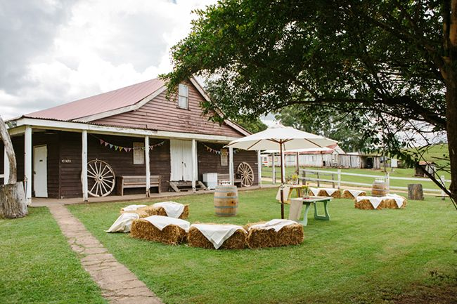 Country wedding. Hay bales. Real Wedding: Kayla and Jesse in Kenilworth   The Bride's Tree - Sunshine Coast Wedding