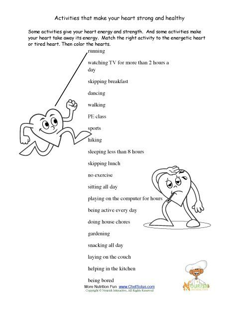 Worksheet 7th Grade Health Worksheets 1000 images about pe worksheets on pinterest health lessons our promote the foods and exercise that keep a childs heart healthy along with some fun