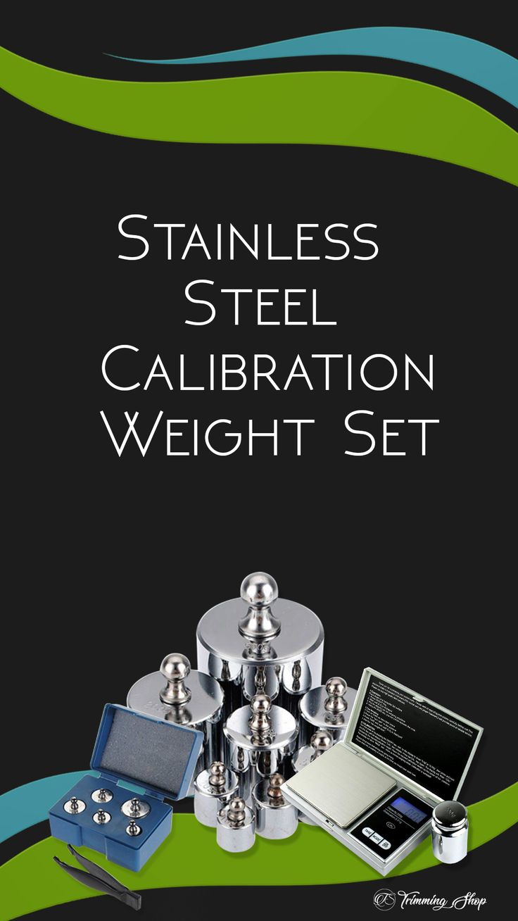 Precision Stainless Steel Calibration Weights Set for
