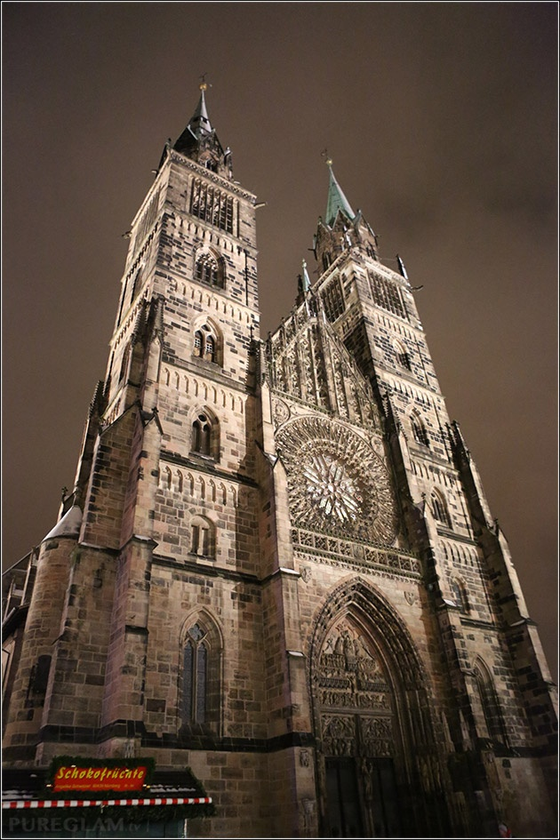 Old church St.-Lorenz-Kirche by night - Nuremberg/Nürnberg, Germany/Deutschland