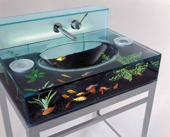 fishyIdeas, Kids Bathroom, Aquariums Sinks, Fish Tanks, I Want This, Fish Aquariums, Bathroom Sinks, House, Kid Bathrooms
