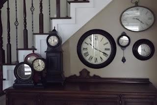 Clock wallClocks Wall, Decor Ideas, Clocks Group, Wall Clocks, Jenn Gray, Clocks Collection, Tick Tock, Wall Gallery, Wall Arrangements