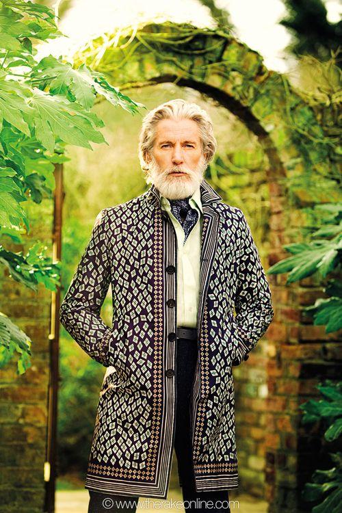 Aiden Shaw in Burberry Prorsum coat !