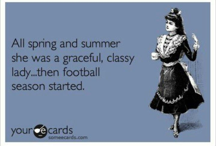 Could be a description of me when fantasy football starts...