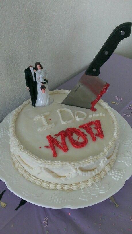 Divorce party cake