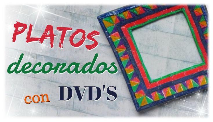 PLATOS  DECORADOS CON DVD'S - paso a paso