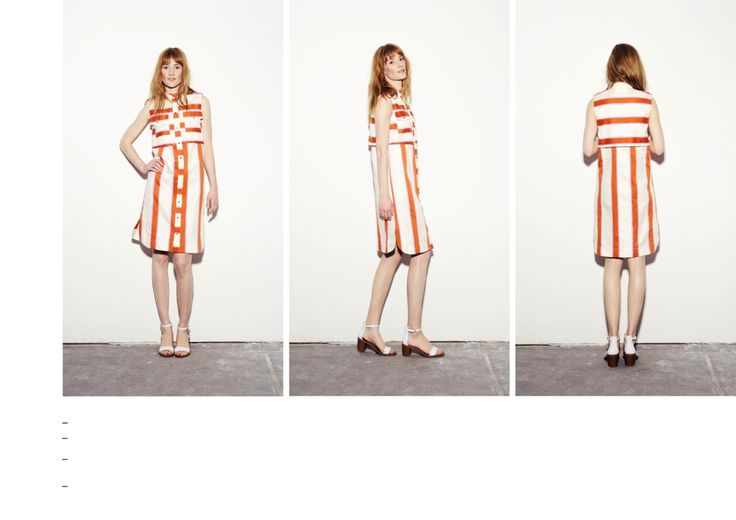 Mustard-pink striped dress front and back panel dress