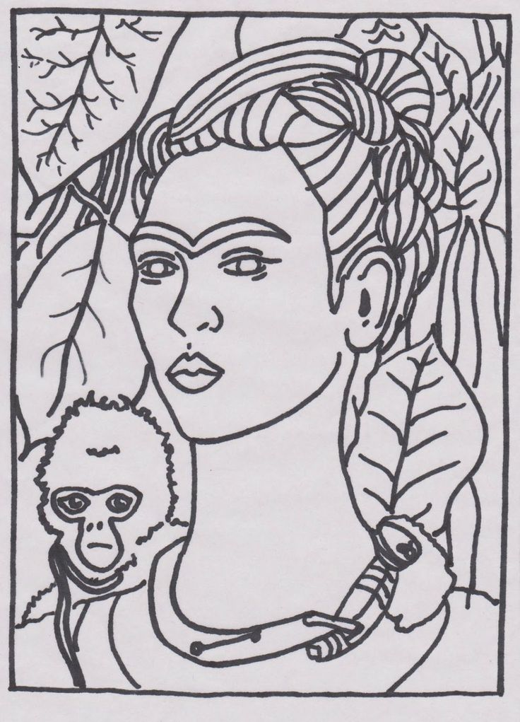 Famous Art Printable Frida Kahlo